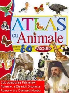 atlas-cu-animale-carte-cu-autocolante